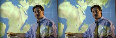 Brendan Fraser awkwardly stars as a nerdy geologist.