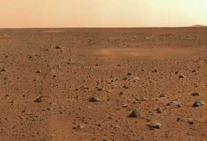 Martian Boy Scouts learn to identify landmarks such as grey pointy rocks and red pointy rocks.