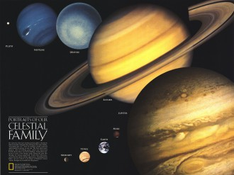 National Geographic Aug 1990 Portraits of Our Celestial Family